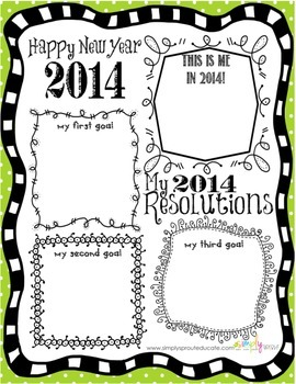 2014 New Years Resolutions for the Classroom Writing ...