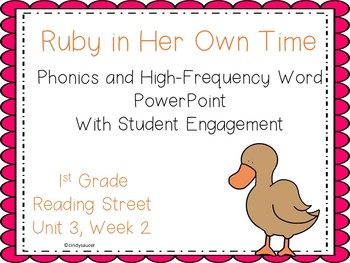 Ruby, PowerPoint with Phonics and High-Frequency Word Student Engagement
