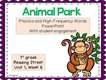 1sr Grade Interactive PowerPoint, Animal Park, Reading Street