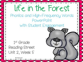 Life in the Forest, PowerPoint with Student Engagement, 1st Grade