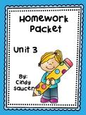 Reading Street, Unit 3, Homework Packets, 1st Grade