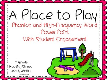 1st Grade Interactive Powerpoint, A Place to Play