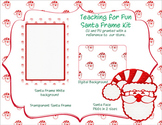 Santa Clipart--Digital Paper--Frames