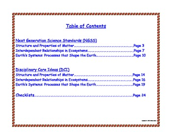 2nd Second Grade Printable Next Generation Science Standards NGSS Understand