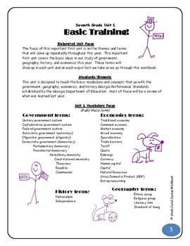 2013 Social Studies Workbook Parent Edition - Georgia 7th grade