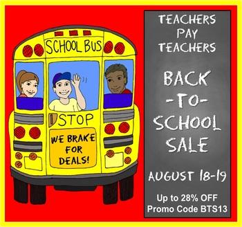 FREEBIE 2013 Teachers Pay Teachers Back-to-School Sale Banners