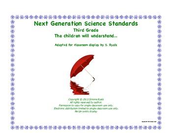 """3rd Third Grade """"Understand""""  Next Generation Science Stan"""
