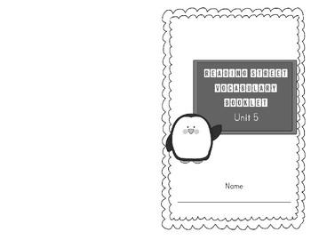 2013 Third Grade Reading Street Vocabulary Booklet Unit 5