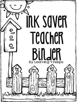2016-2017 Ink Saver Teacher Binder {Garden Theme}