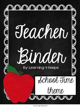 2016-2017 Teacher Binder {Back to School} Includes Customizable Pages!