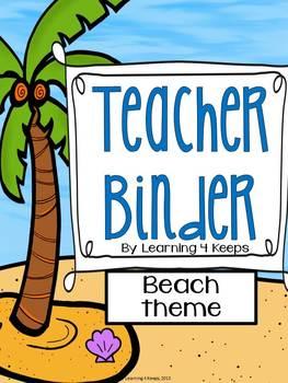 2016-2017 Teacher Binder {Off to the Beach} Now with custo