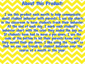 2015 - 2016 Behavior Calendars