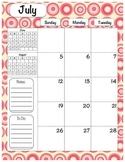 2016-2017 School Calendar - Pink