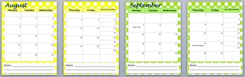 2016-17 School or Home Calendar with Holidays