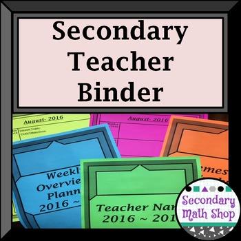 "2016 - 17 Secondary Teacher Binder-""Stained Glass"" Purple/Black"