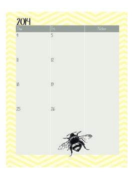 2014-15 Teacher Monthly Calendar
