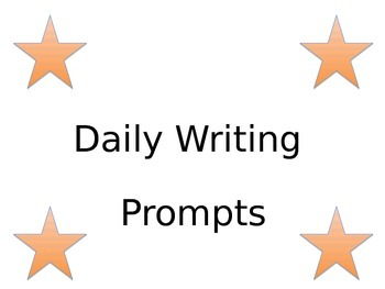 2014 - 2015 3rd and 4th Grade Daily Writing Prompt Calenda