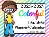 2017-2018 Teacher Planner/Calendar {Color} {EDITABLE}
