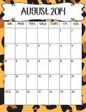 2014-2015 Animal Print Calendars