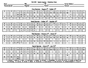 2014-2015 - Attendance Sheet