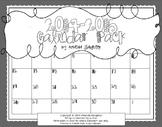 2014-2015 B&W Calendar- Editable