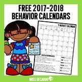 Free Behavior Calendars