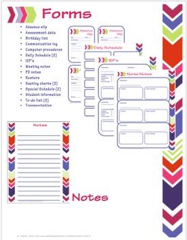 2017-2018 Bright & Trendy Teacher Organizer Binder: Planner, Grade Book, Forms