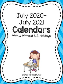 2016-2017 Calendar ~ FREE!  With and Without US Holidays