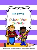2014-2015 School Year Calendar Pack