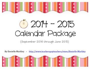 2014-2015 Calendar Package