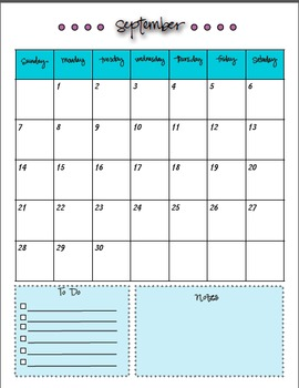 Calendar and Weekly Planner