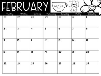 2017 2018 Calendar with Clip Art