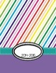 2014-2015 Calendar with Notes Pages--Rainbow background