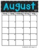 *Updated* 2017 - 2018 Chalkboard Calendars (Colored Version)