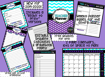 2017-2018 Chevron Purple Teacher Binder & Planner! {The Ultimate Organizer}