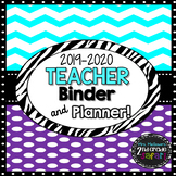 2017-2018 Chevron Purple Teacher Binder & Planner! {The Ul