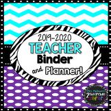 2018-2019 Chevron Purple Teacher Binder & Planner! {The Ul