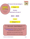 2014-2015 Customized Teacher Planner