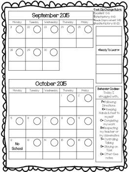 Editable Behavior Calendar