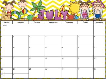 2017-2018 Editable Calendar