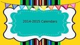 2014-2015 Editable Calendars