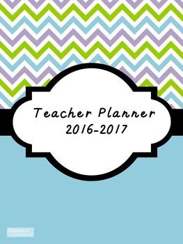 2016-2017 Teacher Lesson Planner (Editable-Aqua Blue)