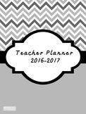 2016-2017 Teacher Lesson Planner (Editable-Black & White)