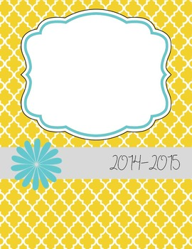 Teacher Planner 2014-2015 {editable}