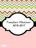 2016-2017 Teacher Lesson Planner (Editable-Pink)