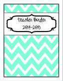 2014-2015 {Editable} Turquoise and Black Chevron Teacher B