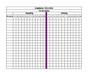 2014-2015 Excel Gradebook