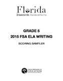 2014-2015 FSA Writing Scoring Anchors (Provided by FSA Portal)
