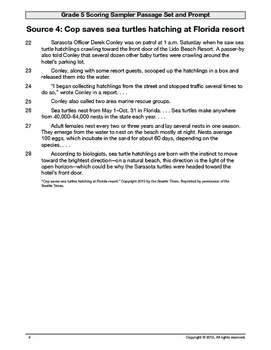 2014-2015 FSA Writing Scoring Sampler (Provided by FSA Portal)