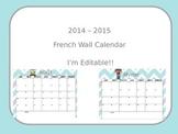2014-2015 French Wall Calendar